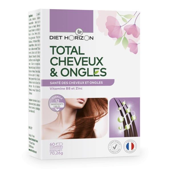 Total Cheveux Ongles - 60 comprimes Diet Horizon
