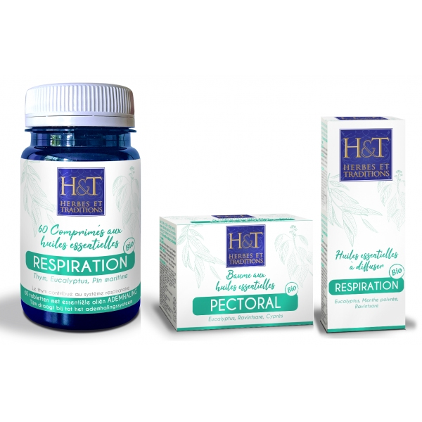 Pack Respiration Bio - 3 produits Herbes et Traditions