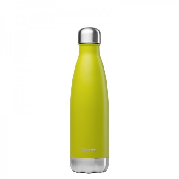 Bouteille isotherme Inox Vert anis - 500ml Qwetch