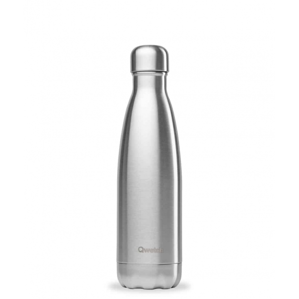 Bouteille isotherme Inox Brosse - 500ml Qwetch