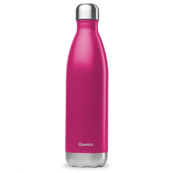 Bouteille isotherme Inox Magenta - 750 ml Qwetch