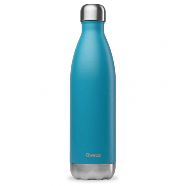 Bouteille isotherme Turquoise  - 750ml Qwetch