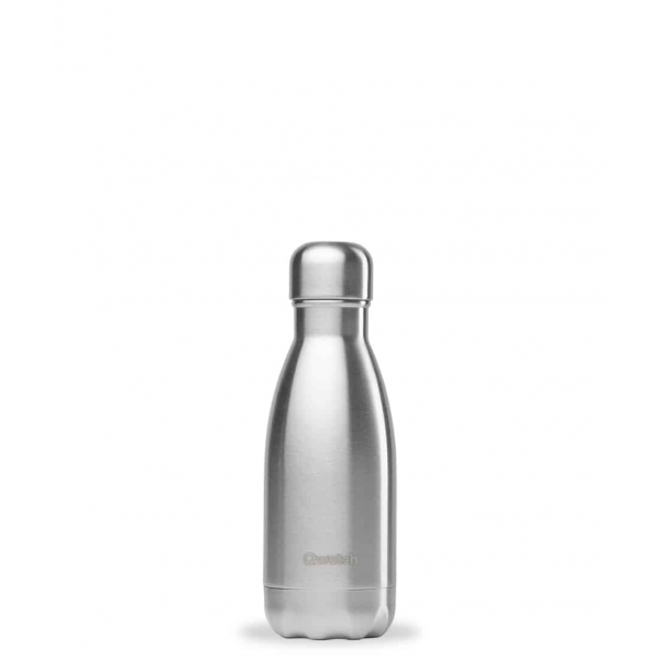 Bouteille isotherme Inox Brosse - 260 ml Qwetch