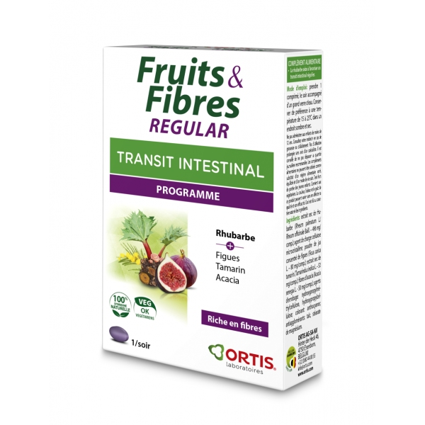Fruits et Fibres Regular - 15 comprimes Ortis