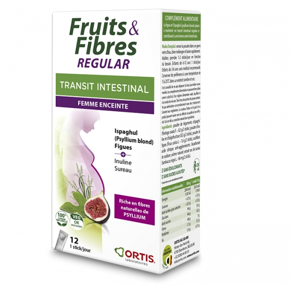 Fruits et Fibres Regular - Femme enceinte 12 sticks