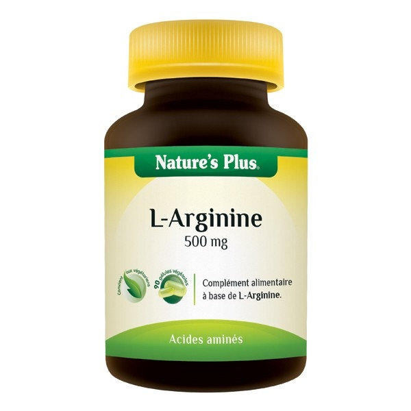 L Arginine 500mg - 90 gelules Natures Plus