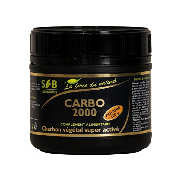 Carbo 2000 - Charbon vegetal Super active Poudre 100g SFB