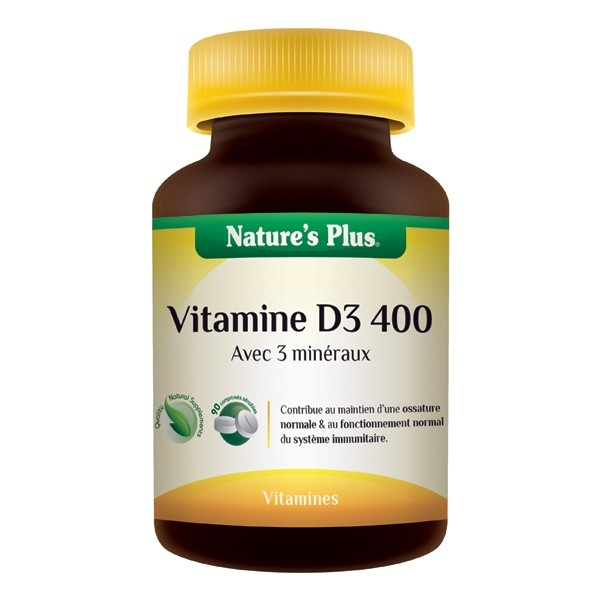 Vitamine D3 400mg - 90 comprimes Natures Plus