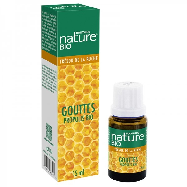 Propolis Bio Gouttes - Flacon 15 ml Boutique nature