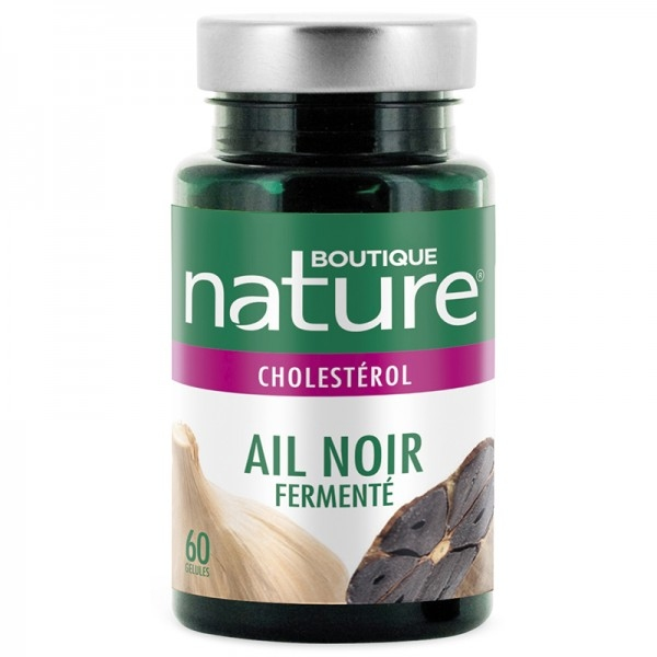 Ail noir fermente 600mg - 60 gelules Boutique nature